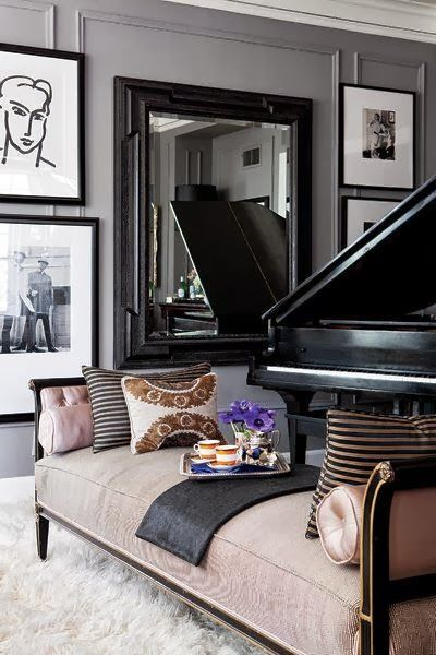 music room with grand piano and chaise lounge living family room rh pinterest com