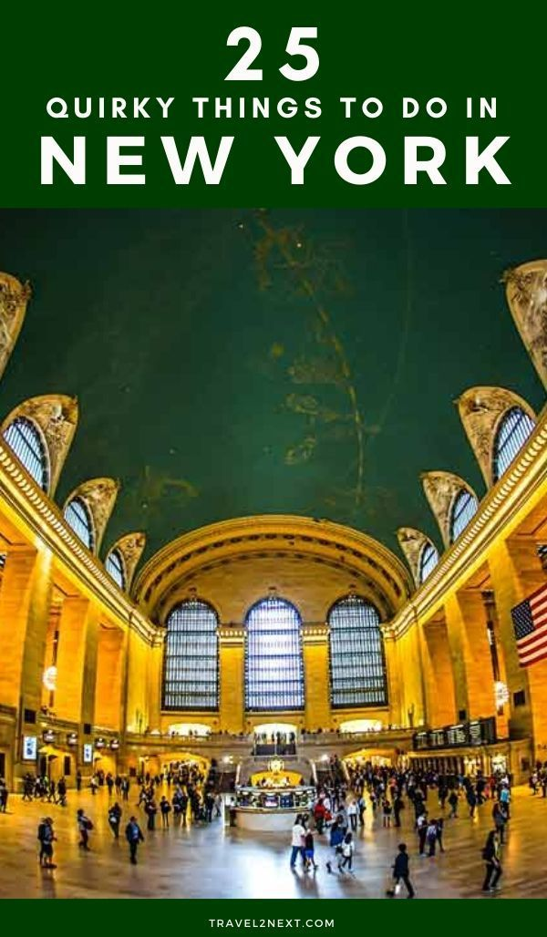 25 things to do in New York. If you think taking a tour of a railway station is an unusual thing to do in New York, think again! #ilovenyc #newyork #travel #usa