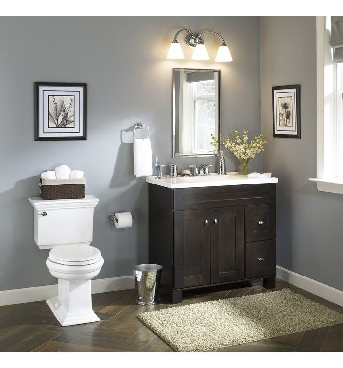 Shop Allen  Roth Palencia Espresso Contemporary Bathroom Vanity Delectable Bathroom Vanities At Lowes Design Decoration