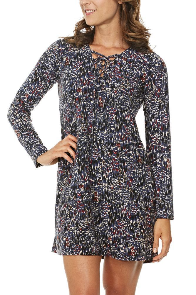 Veronica M. 3/4 Sleeve Lace Up Swing Dress