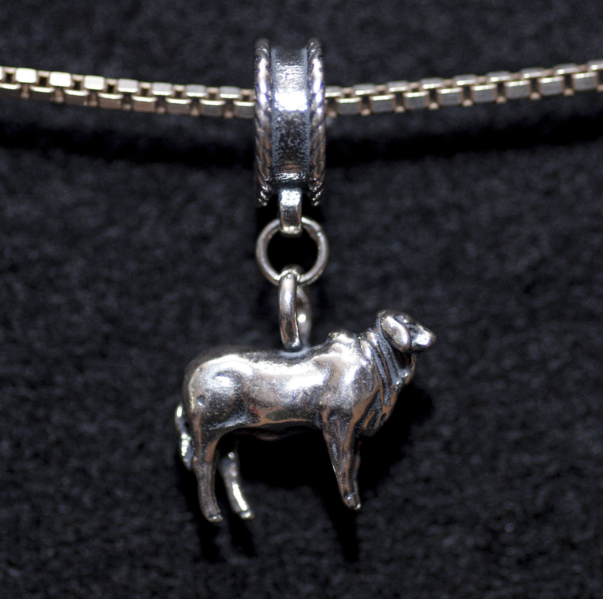 High Polish Horse Pendant .925 Sterling Silver Country Stables Animal Charm
