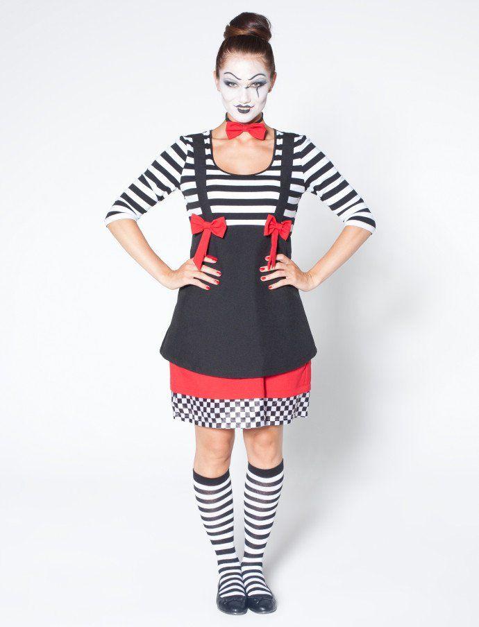 pantomime damen kost m f r karneval fasching kaufen. Black Bedroom Furniture Sets. Home Design Ideas
