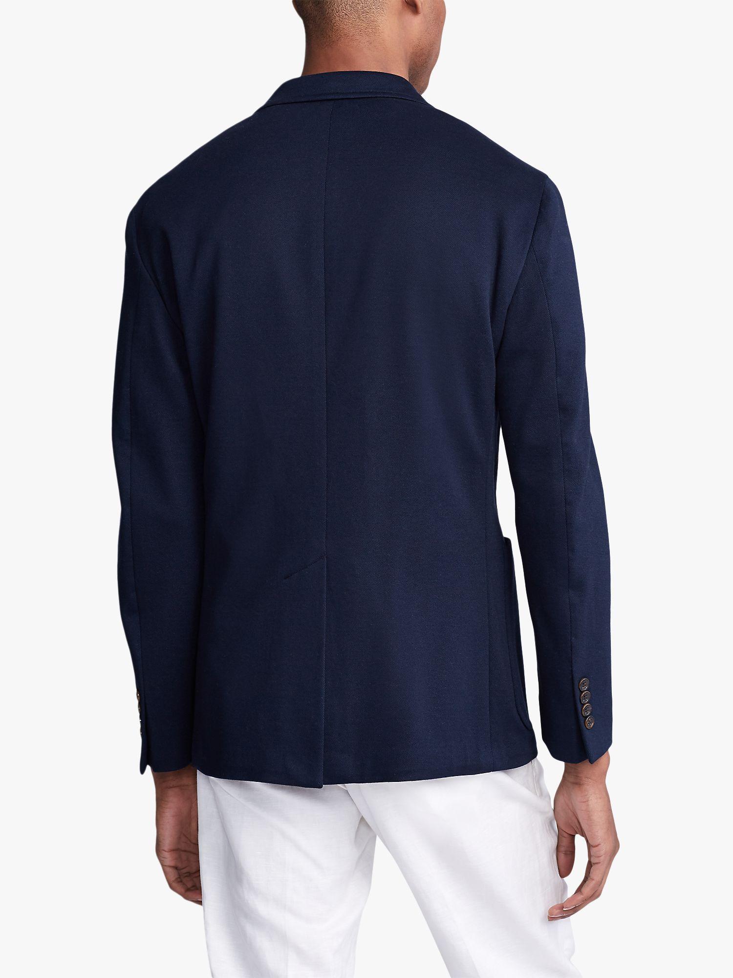 Polo Ralph Lauren Knit Mesh Cotton Blazer Navy In 2020 Cotton Blazer Polo Ralph Lauren Polo Ralph