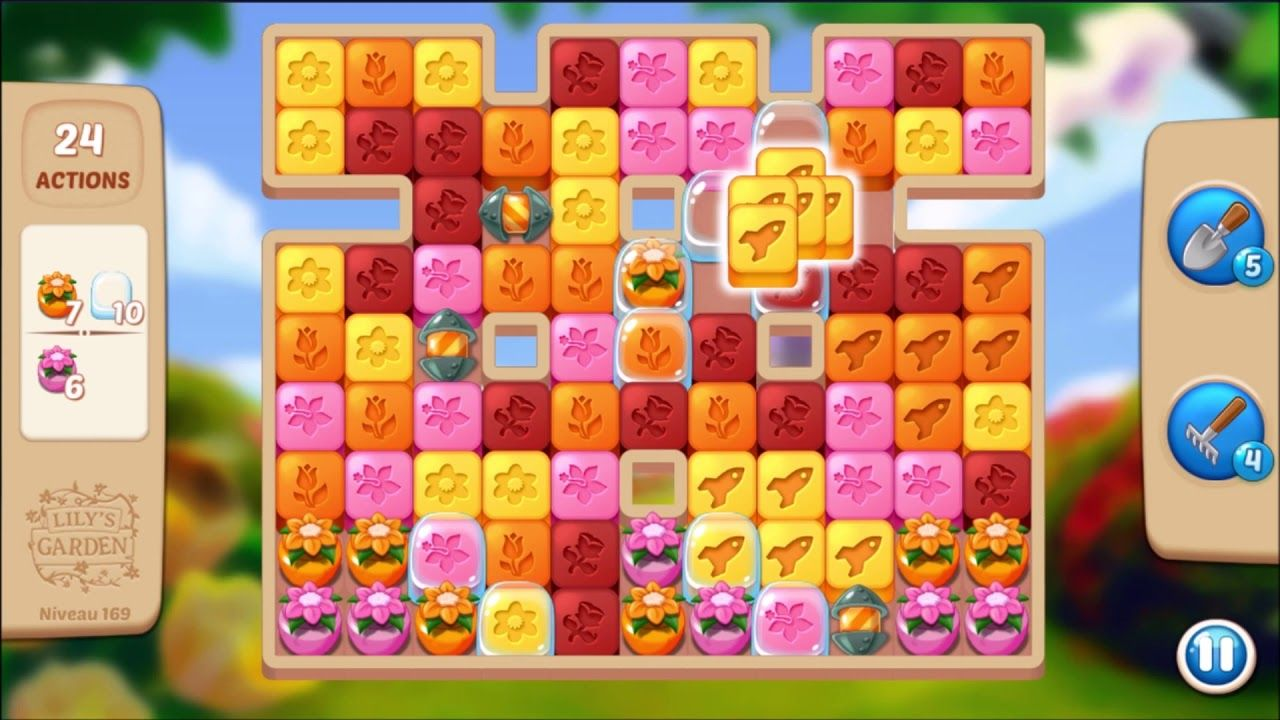 Lily S Garden Level 169 No Boosters Lily Garden Lily Garden Levels