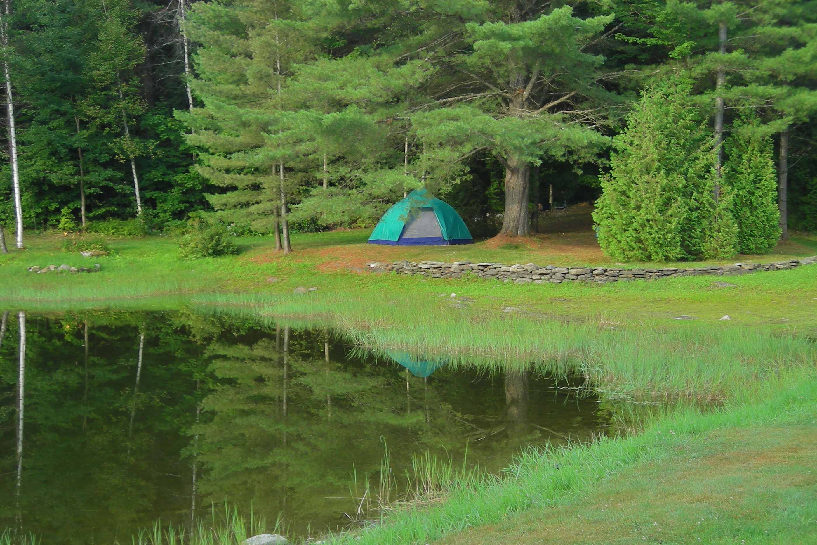 Camping at the Cedarwood Resort, Jay, Vermont, August 2012
