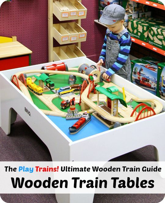 The Play Trains Ultimate Wooden Train Guide The Best Wooden Train Tables for Toddlers and  sc 1 st  Pinterest & Best Train Tables -- The Ultimate Wooden Train Guide | Train table ...