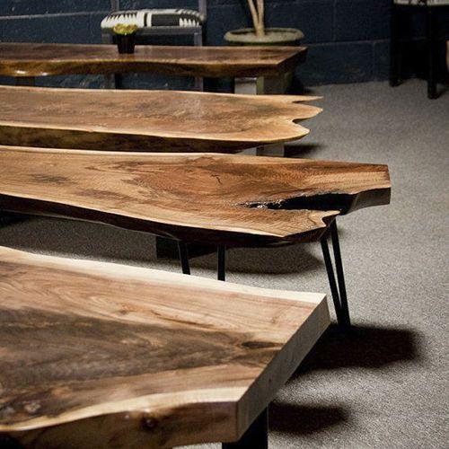 Mesa de tronco Mesa rstica con forma de tronco Mesa de madera