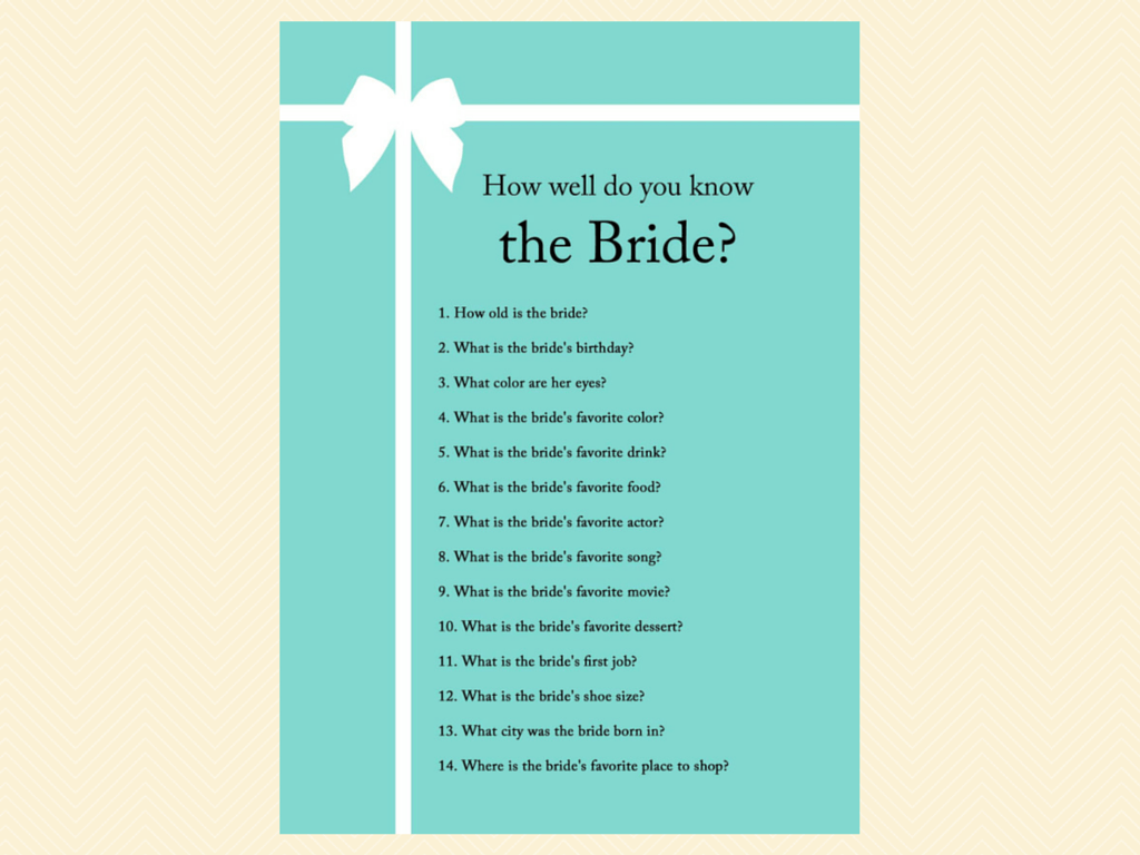 free printable bridal shower games how well do you know the bride%0A how well do you know the bride  who knows bride best  how to be a good wife  guide  how old was bride  guess the age  finish bride u    s phrase  date night