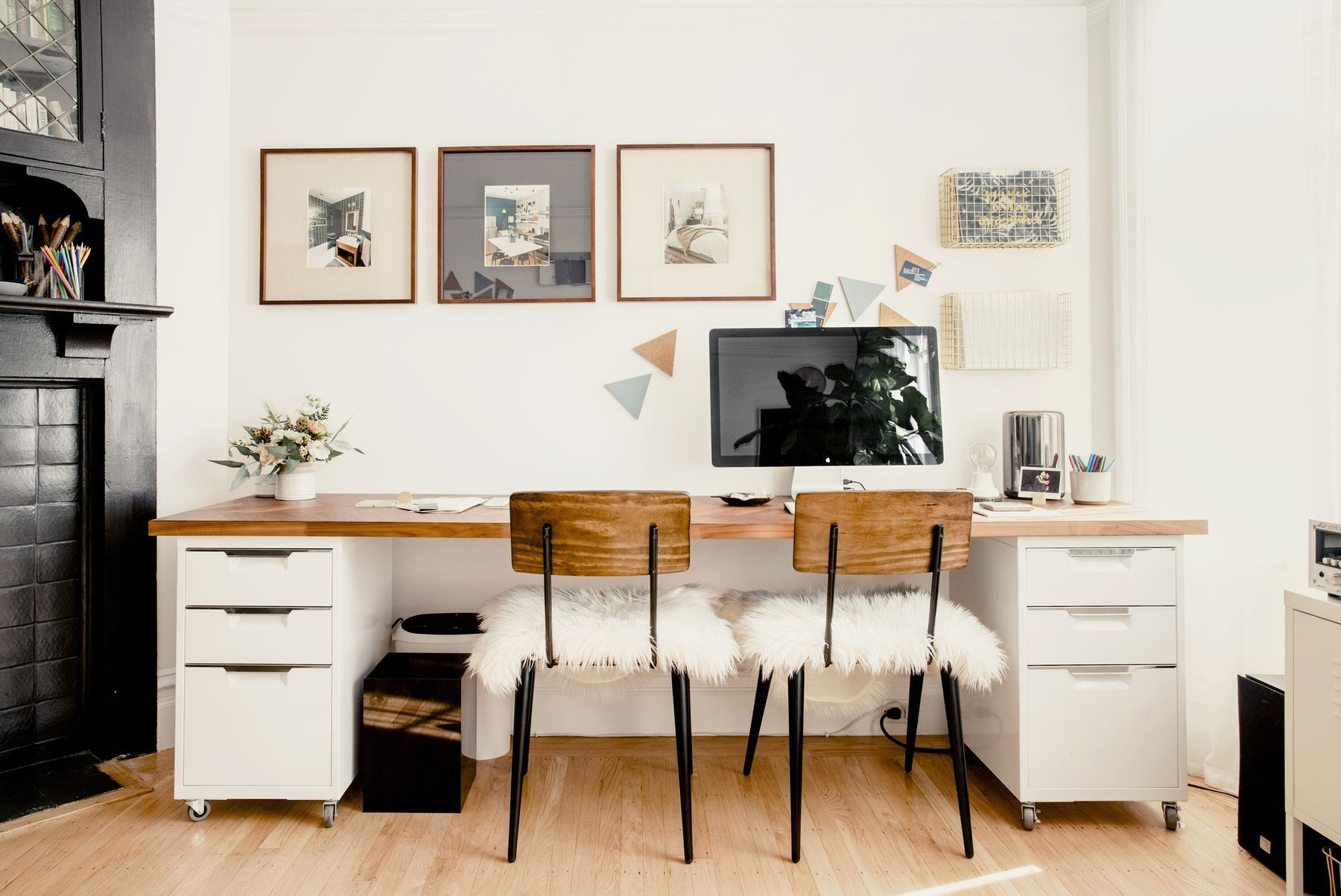 A Remodel Brings A Couple Closer Together In Duboce Park Long Desk Home Office Chairs Home Decor
