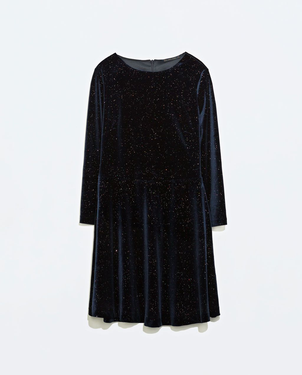 Zara femme robe velours brillant mode pinterest zara