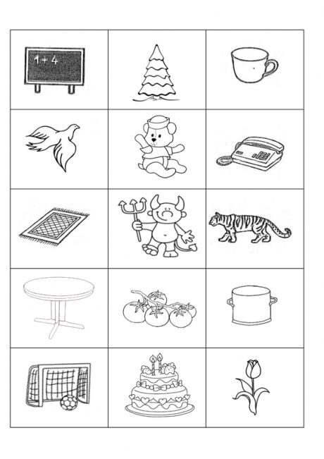 Bildkarten: [t] im Anlaut - Kindersprache | nespalvoti paveiksleliai ...
