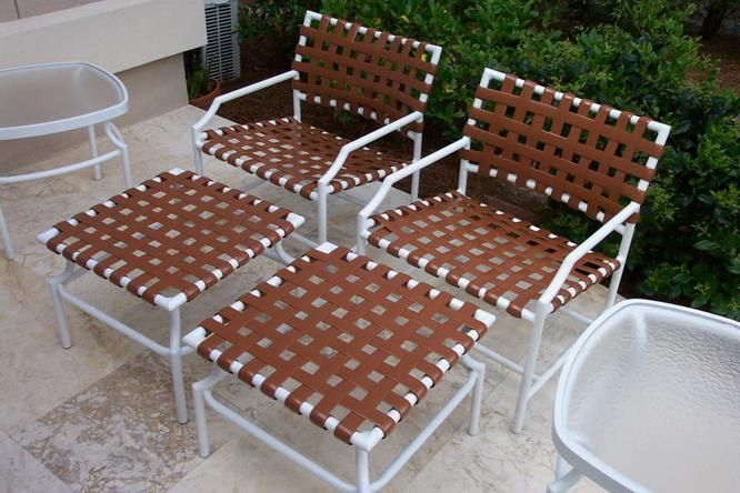 Vinyl Strapping Replacements On Tropitone Cantina Patio Furniture