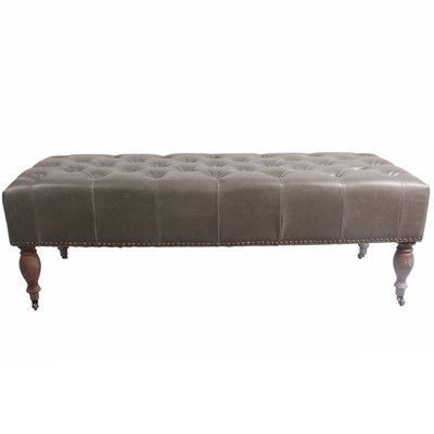 New Pacific Direct Madeline Bench Upholstery Color: Vintage Gray
