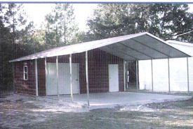 Storage Shed With Carport Metal Carports Garages Steel Boat Covers Rv Covers Farm Equipment Metal Storage Buildings Metal Carports Carport With Storage
