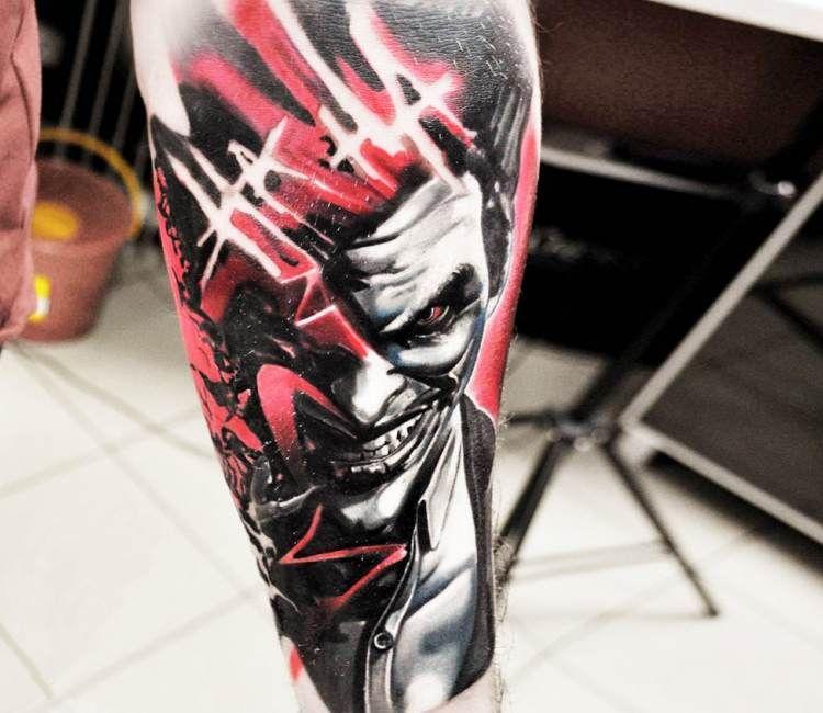 735e3a6405c7c Joker tattoo by Jakub Hanus