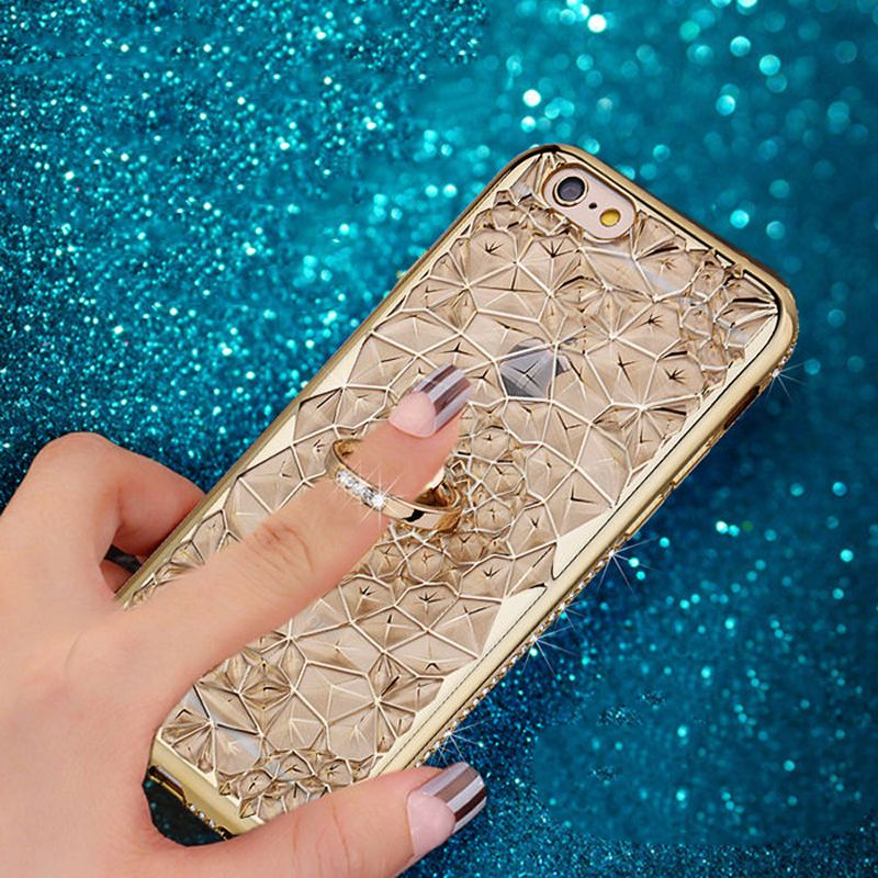 Luxury Bling Diamond Ring Stand Phone Cover Case for iPhone 6 6s 7 Plus 0899f789aeec