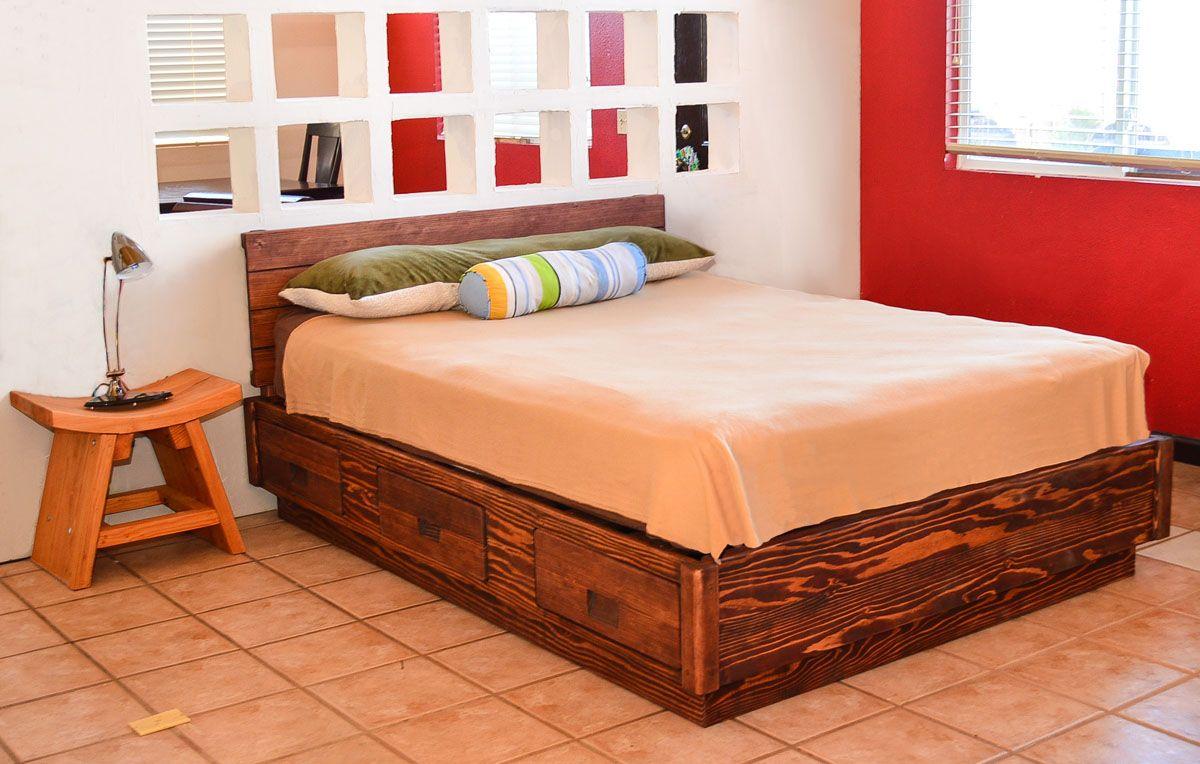 The Chest Bed Options Queen Size Douglas fir