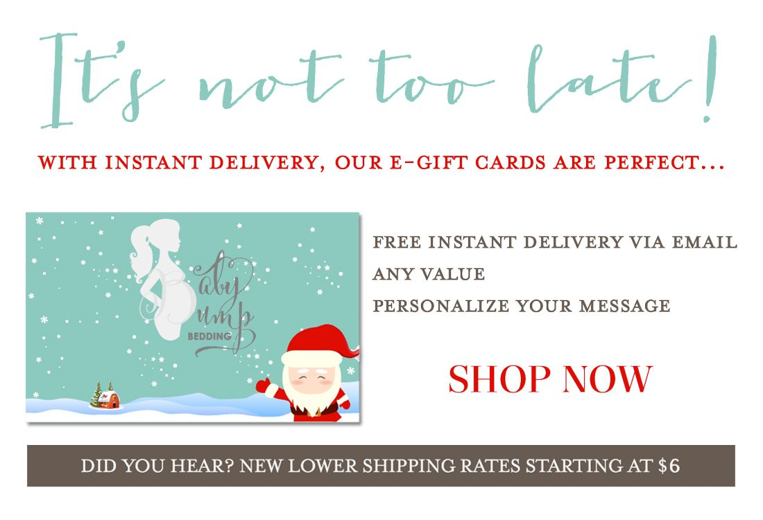 A BBB E-Gift Card Is The Perfect Christmas Gift!   Baby Bump Bedding ...