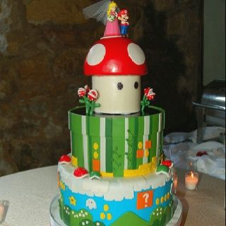 MARIO WEDDING CAKE!