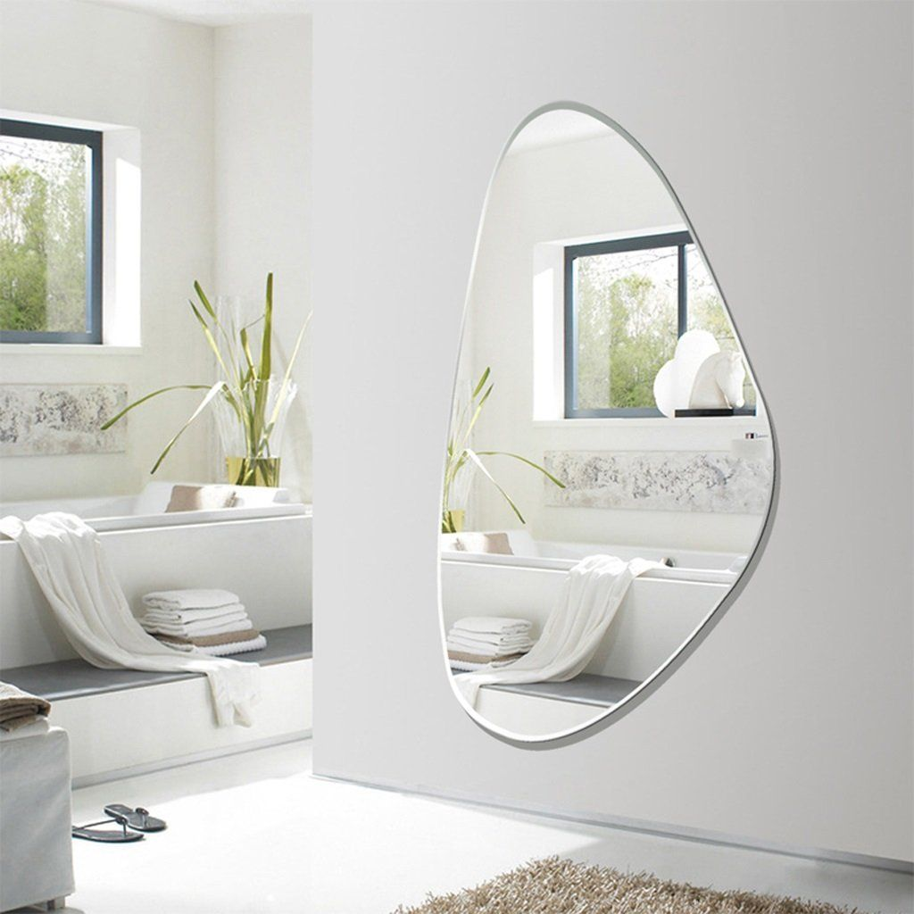 Makeup mirror frameless bathroom full body wallmounted decorative vanity mirror fitting mirror more info could be found at the image url