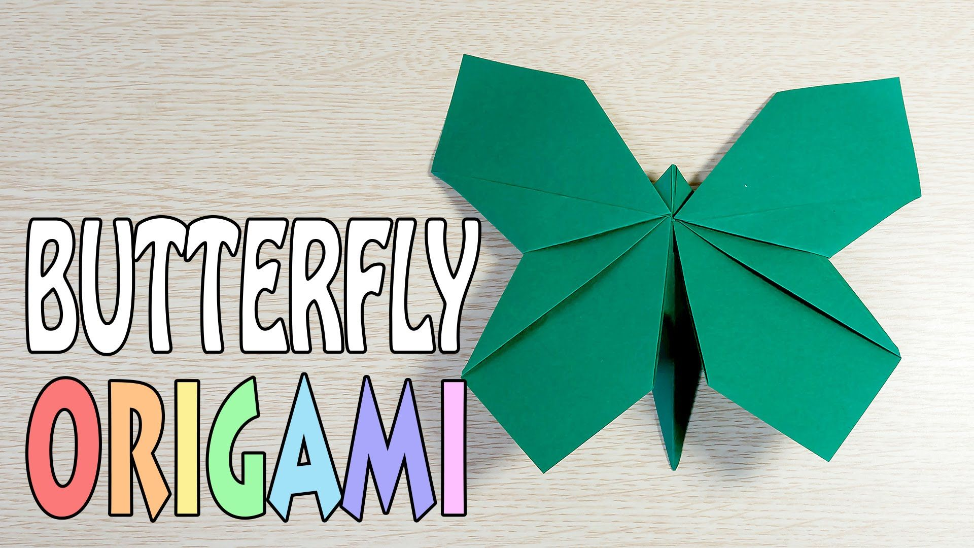 origami butterfly a4 paper diy tutorial