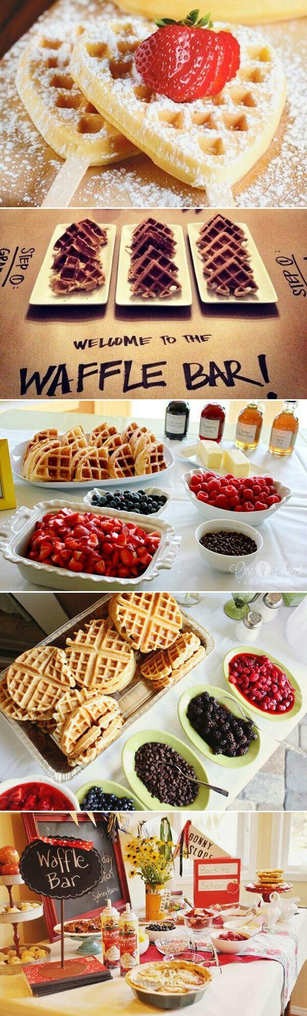 ideas for bridal shower brunch food%0A WAFFLE BAR   BREAKFAST IDEAS   IDEAS FOR BREAKFAST   BIRTHDAY PARTY FOOD  IDEAS   EASY BREAKFAST PARTY IDEAS   WAFFLE BAR PARTY   Pinterest    Breakfast