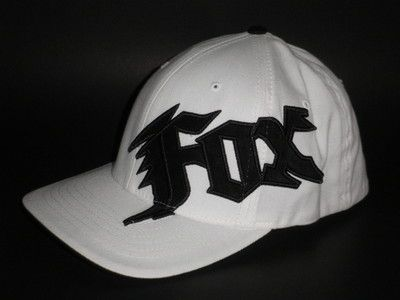 a5ee8136150 Fox Racing Hat NEW GENERATION White Small Medium ( 28) Riders BMX Flex Cap