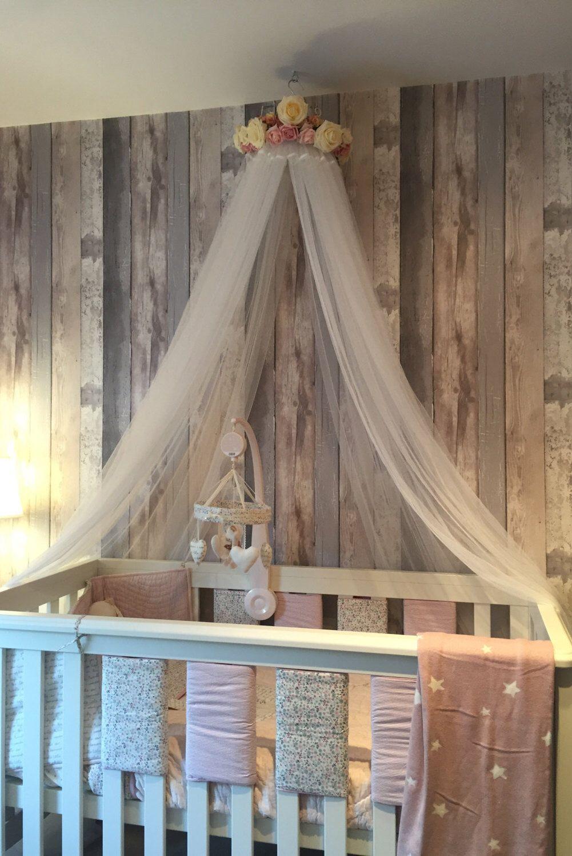HANNAH Handmade bed canopy crib canopy girl bedroom decor reading nook baby nursery decor bedroom pink and cream theme flowers & HANNAH Handmade bed canopy crib canopy girl bedroom decor reading ...