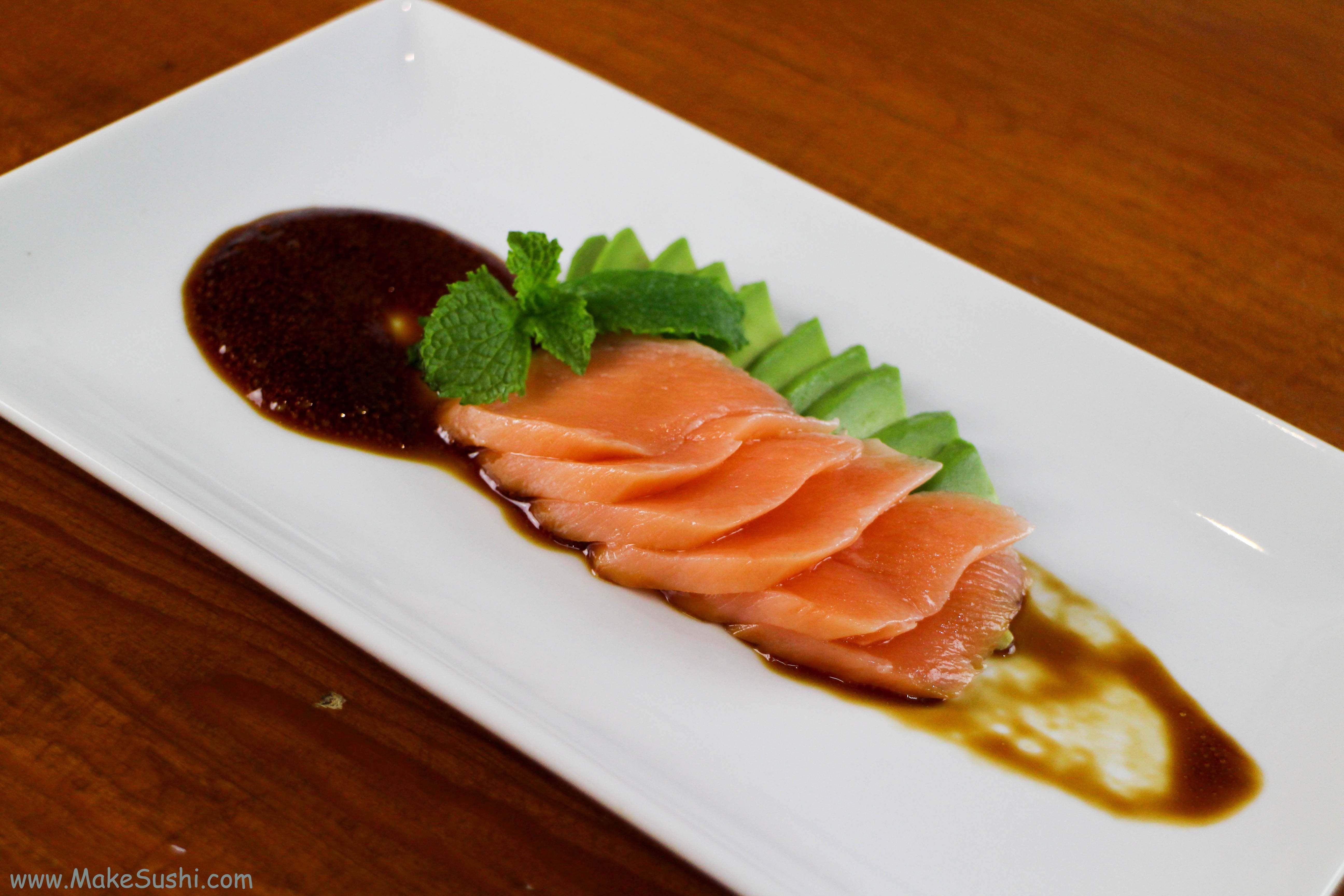 Cooked Salmon Sashimi Recipe Make Sushi Cooking Salmon Sushi Dishes Recipes