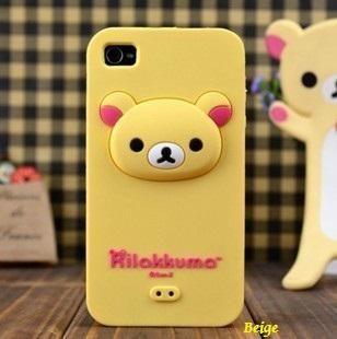 [5454-Yellow] Rilakkuma Pattern Silicone Case for iPhone 4/4s | lkdress - Accessories on ArtFire