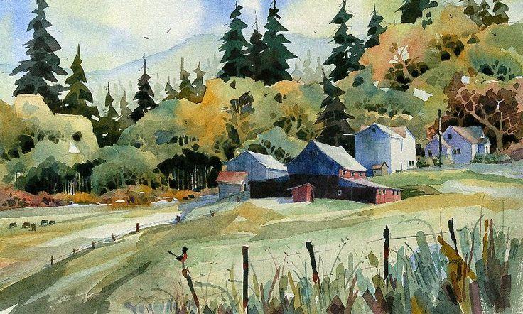 Zoltan Szabo 1928 2003 Watercolor Artist Famous Watercolor