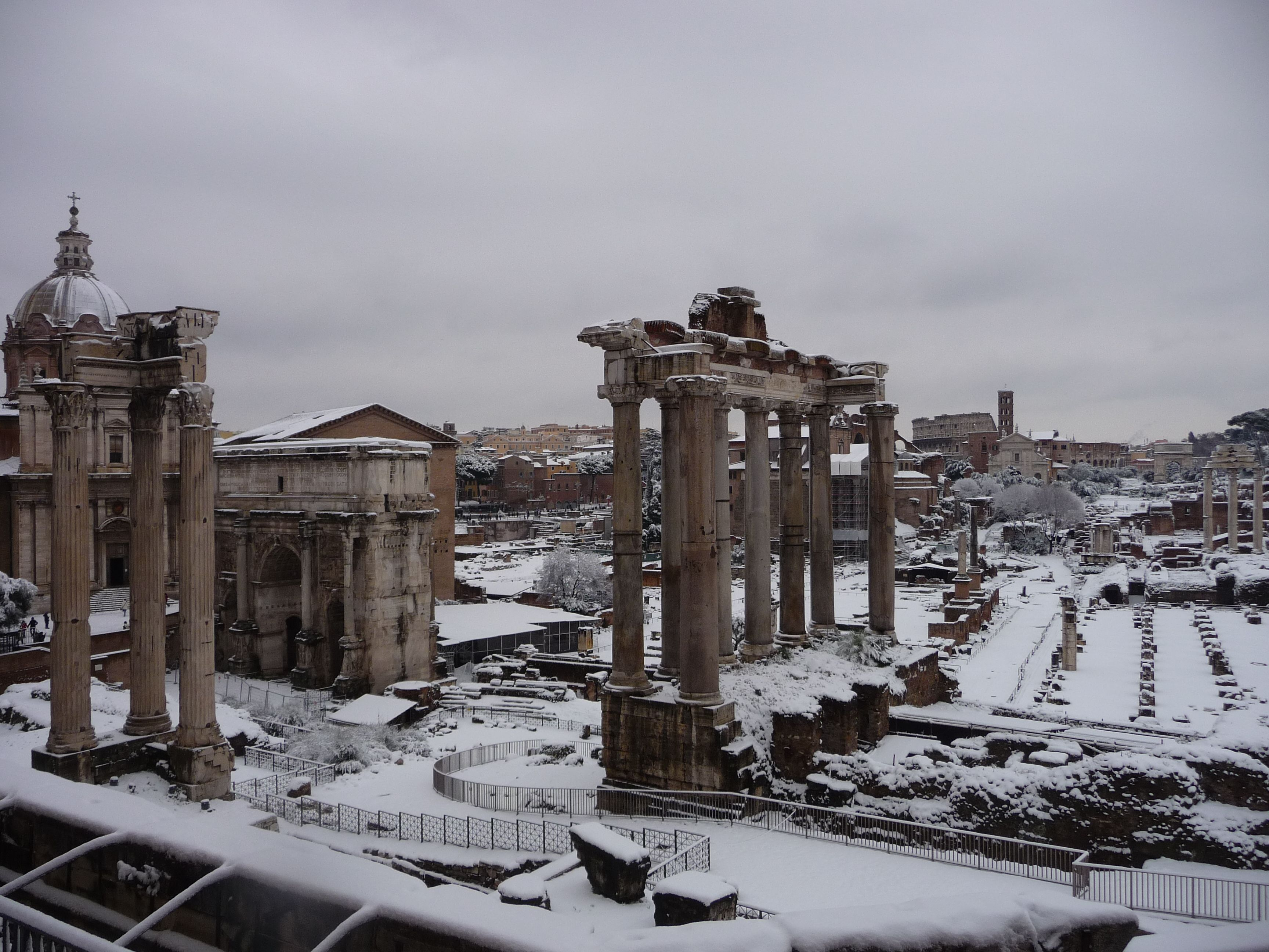 Snow in Rome, Winter 2012