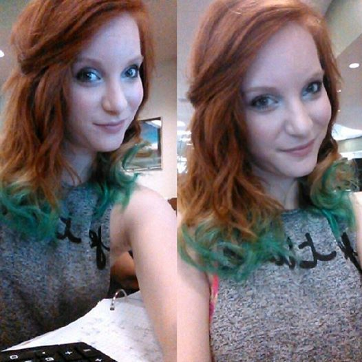 Hair Red Curls Ombre My Natural Red Hair With Blonde And Teal