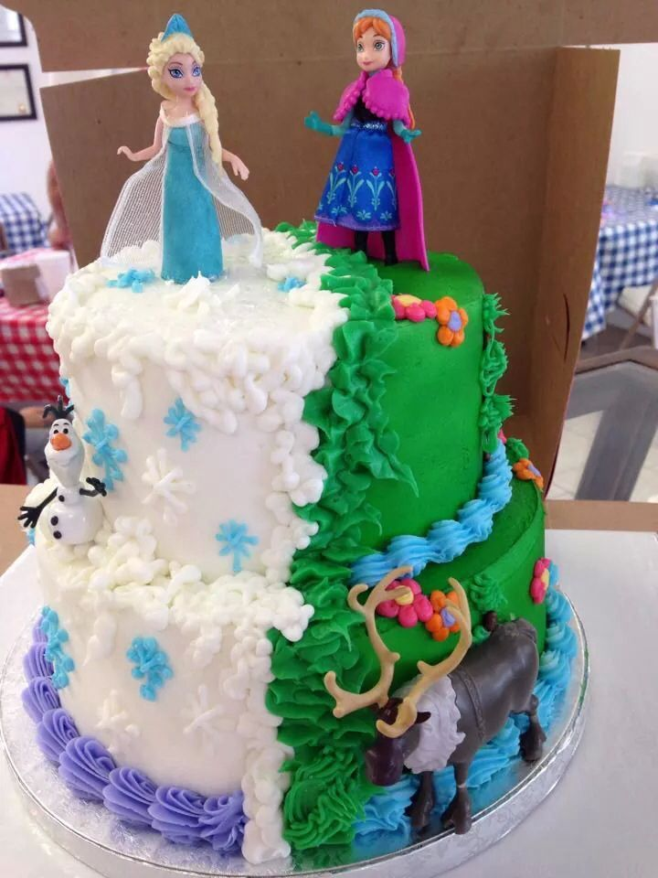 Frozen Party Cake Ideas Inspirations Frozen party cake Frozen