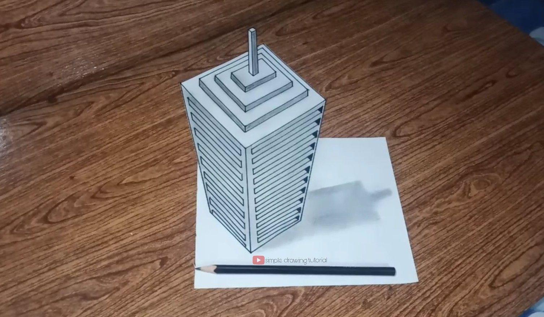 Cara Menggambar 3d Gedung Bertingkat Cara Menggambar Gambar 3d Gambar