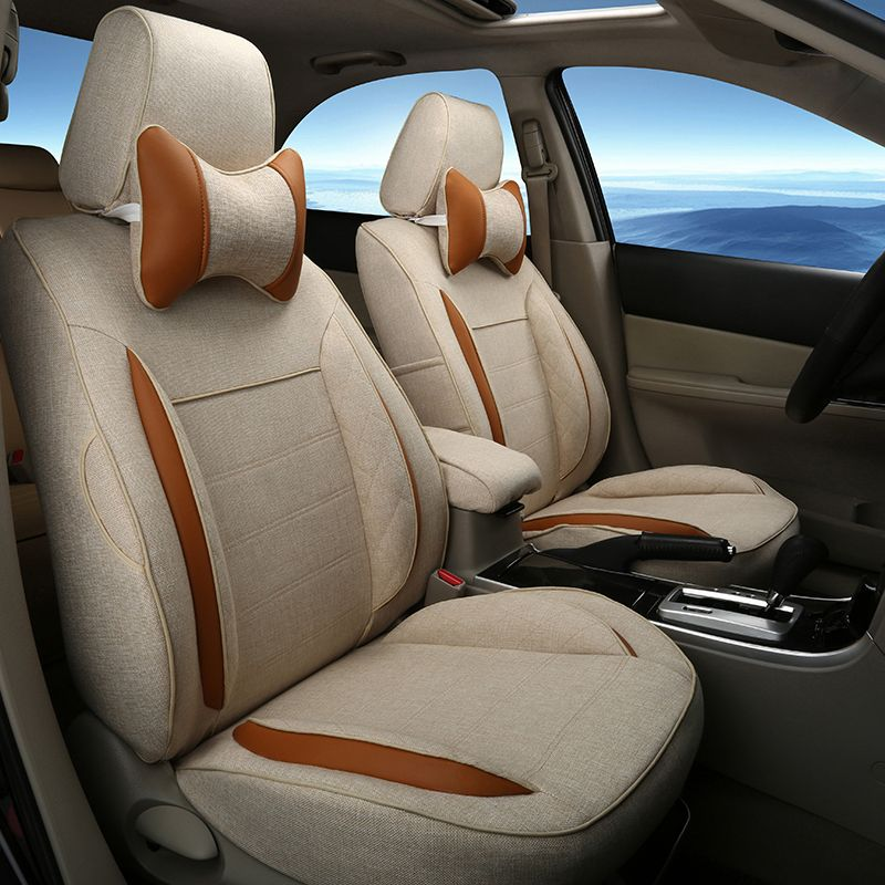 customized car styling seat cover fit for benz gls 500 400 linen rh pinterest com