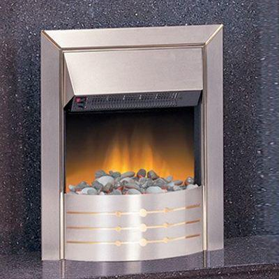 Brushed Steel Lilliput Flueless Inset Gas Fire