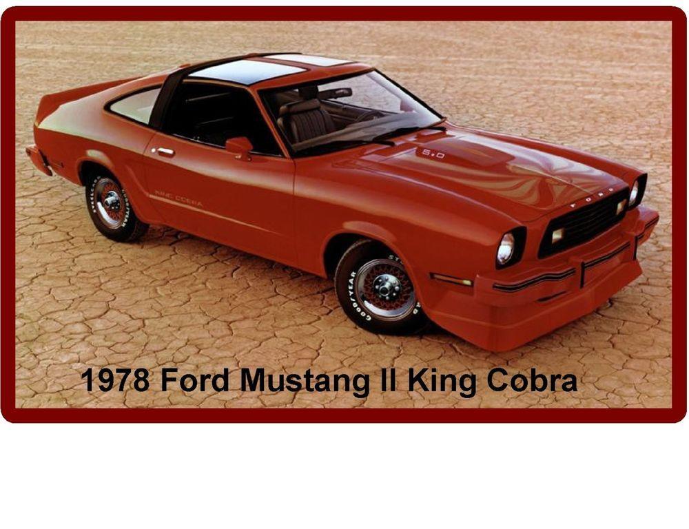 1978 ford mustang ii king cobra auto refrigerator tool box magnet rh pinterest com