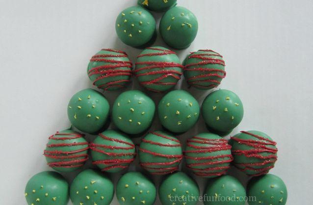 Christmas Tree Cake Balls