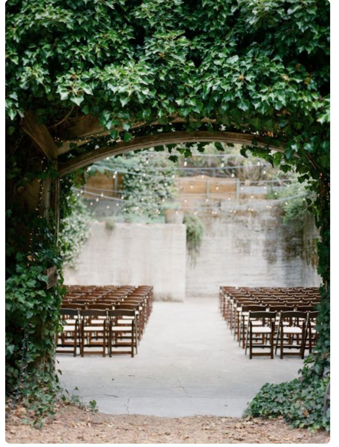 decorating ideas for outside wedding ceremony%0A    Shades of Greyed Jade Wedding Ideas  wedding ceremony idea  Venue  Sand  Rock Farm Bed and Breakfast via Once Wed
