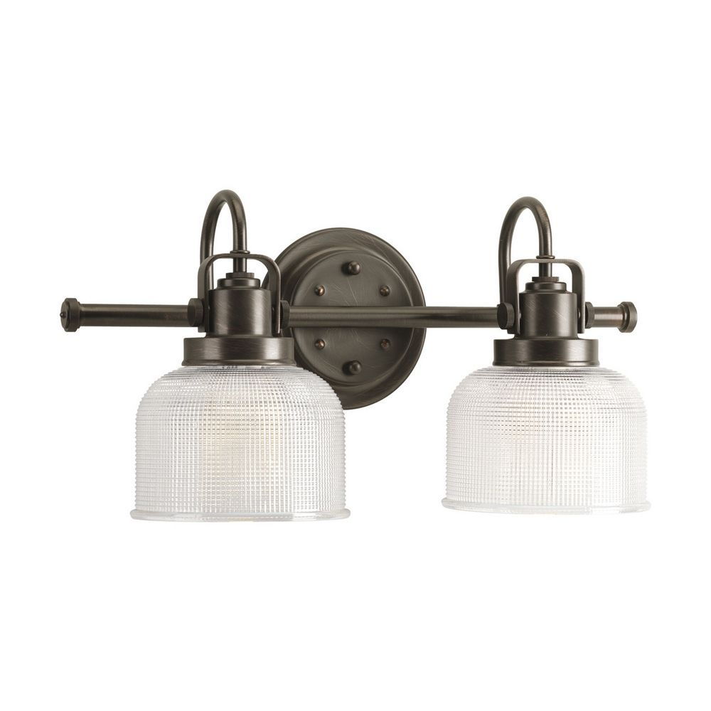 interesting bathroom light fixtures%0A Progress Lighting Progress Bathroom Light with Clear Glass in Venetian  Bronze Finish P