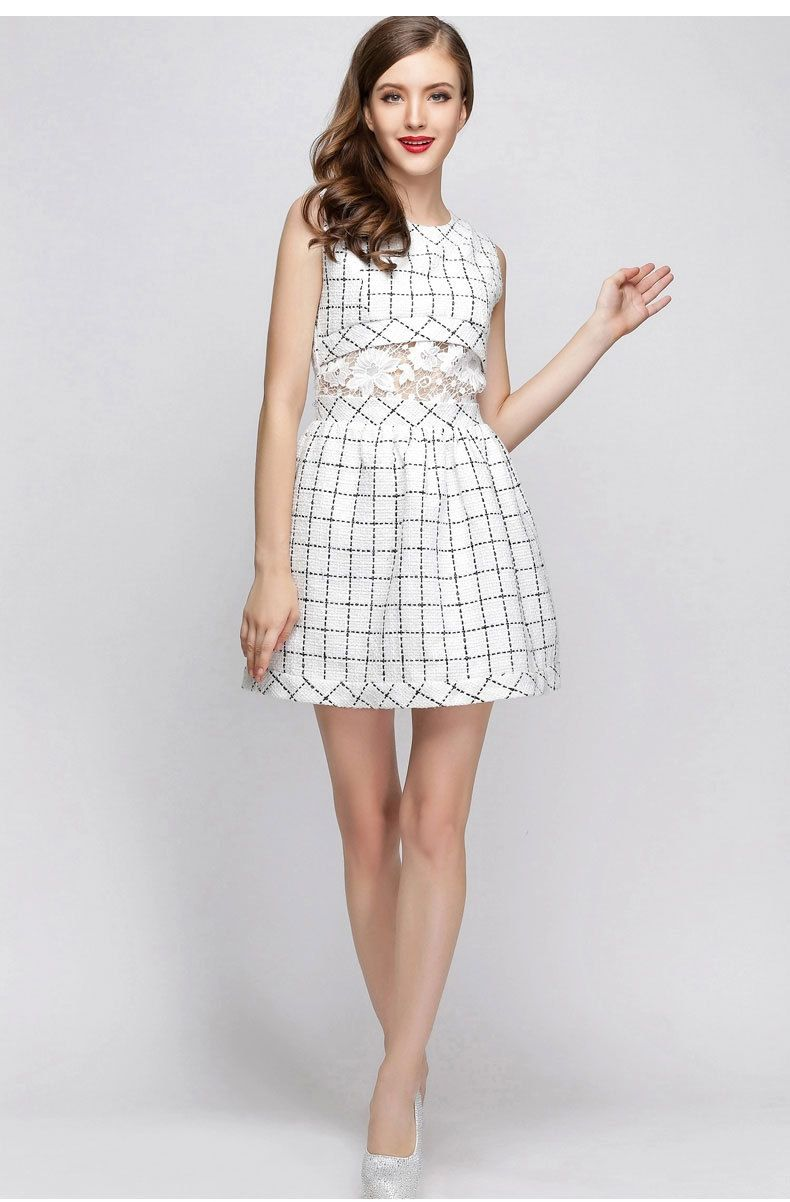 03d46547e20 Mode coréenne vêtements Combinaison Femme Tweed robe mignon robes pas cher  dans Robes de Accessoires et vêtements pour femmes sur AliExpress.com