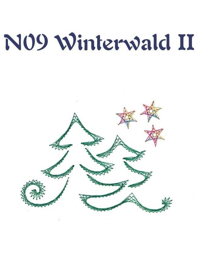 Tarjetas de navidad bordadas con hilo