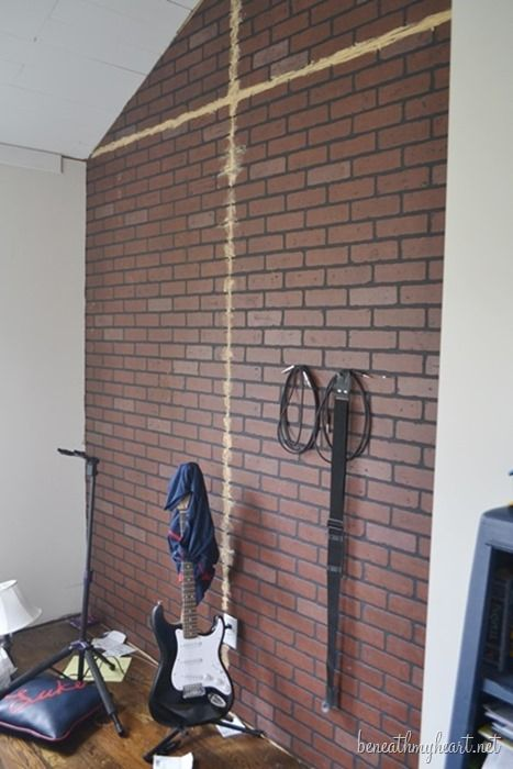 how to build industrial shelves our house brick paneling faux rh pinterest com