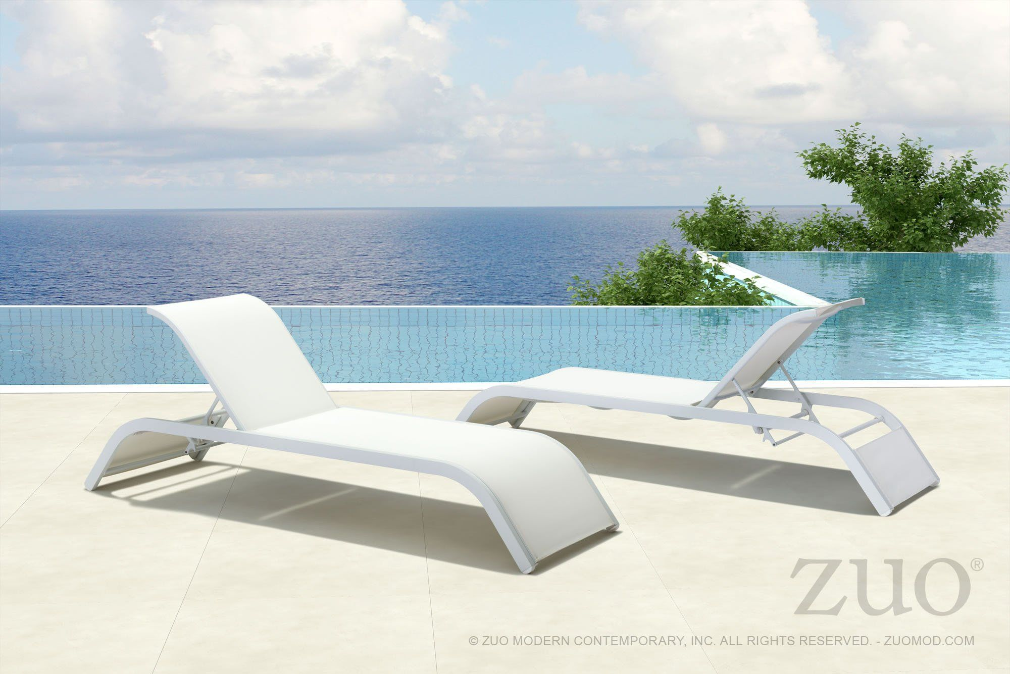 Sun Beach Chaise Lounge White Modern Chaise Lounge