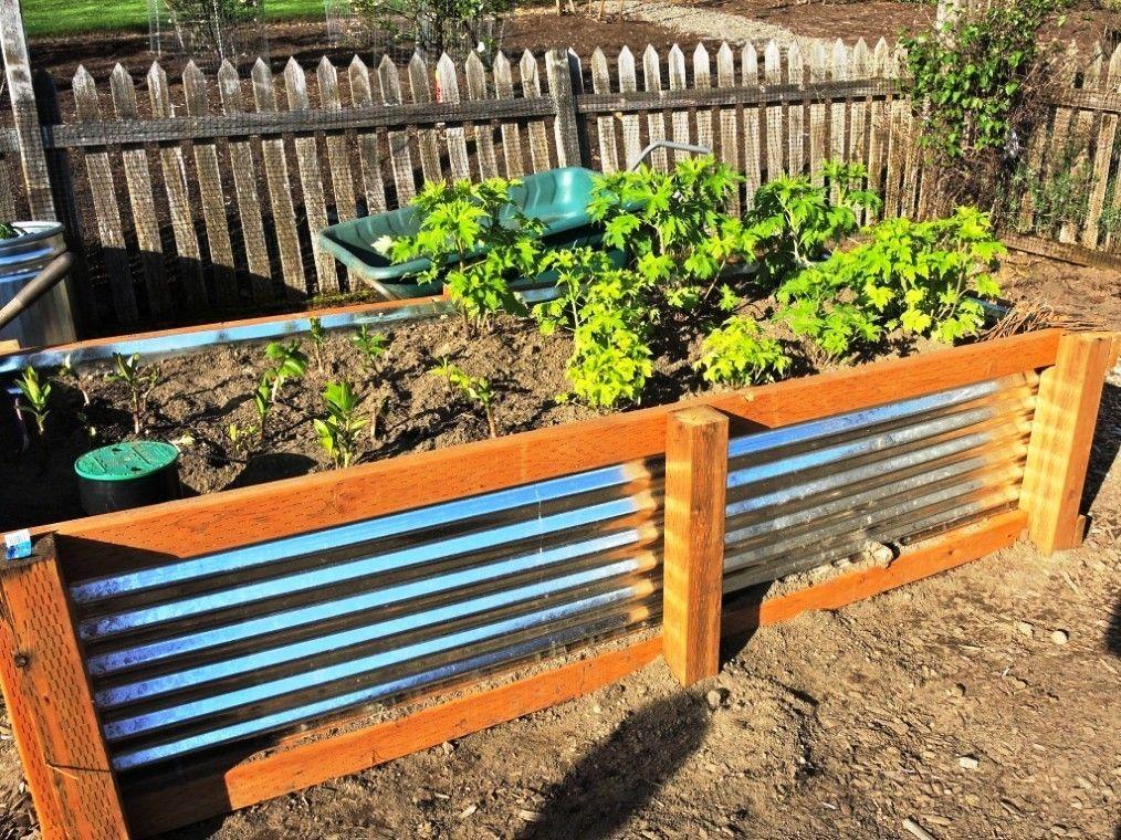 Image Of Galvanized Planter Trough Garden In 2018