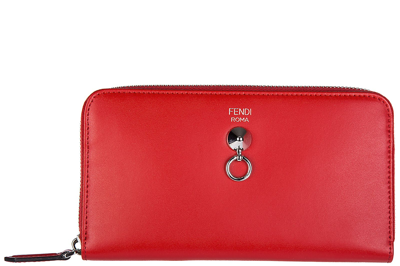 Fendi womens wallet genuine leather coin case holder