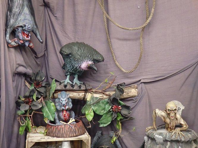 Halloween Decorations 2014-- The vulture corner