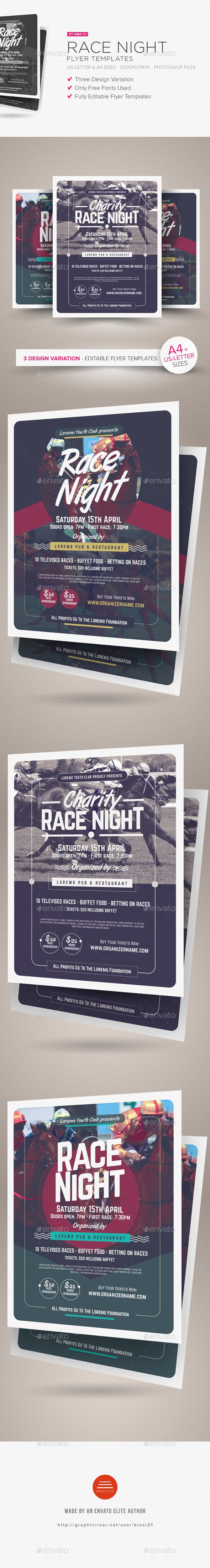 Race Night Flyer Templates Miscellaneous Events Here Https
