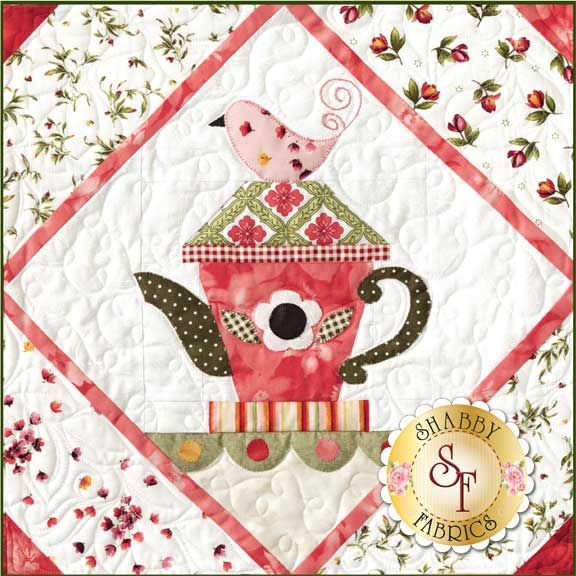 Garden Tea Party BOM - Block of the Month - Quilt Company - Teacup Quilts - Shabby Fabrics